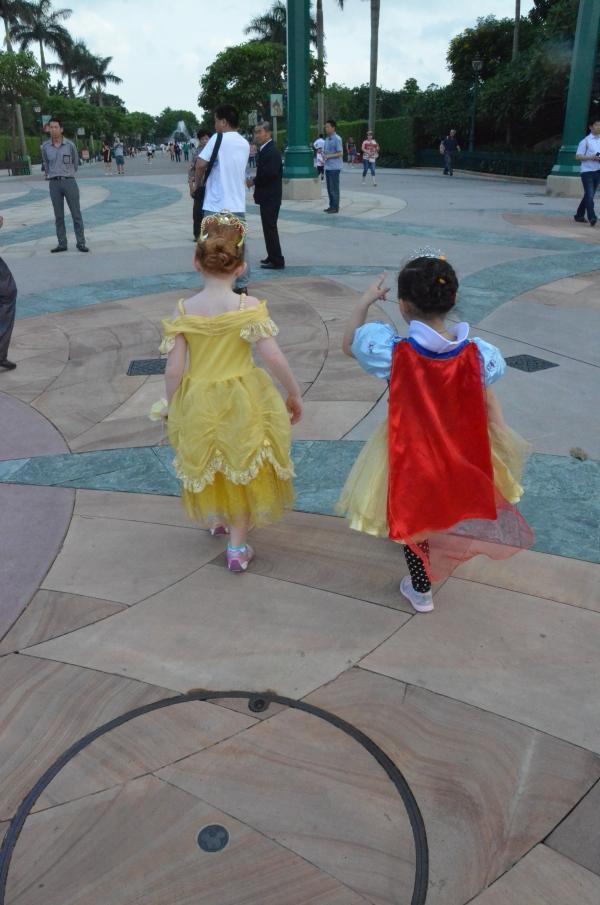 Snow White and Belle at Hong Kong Disneyland